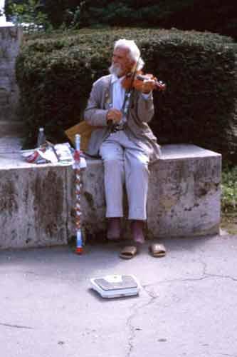 Romania, August 1999 - Musician