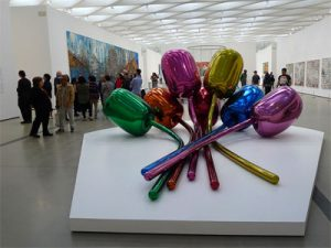 Tulips, by Jeff Koons, at The Broad.