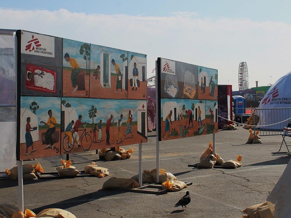 Refugee Camp Art