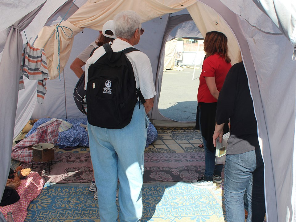 """Swank"" refugee tent, permanent home for two or more families"