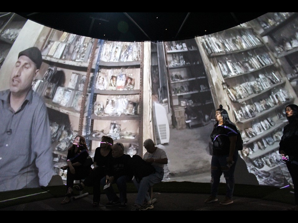 Video Dome presenting the work of MSF