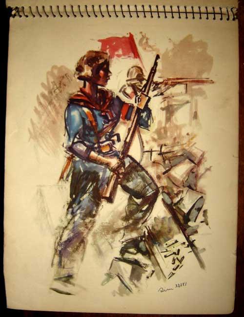 Estampas de la Revolutión Española - They Shall Not Pass