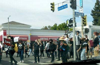 LA Demonstration - No Justice No Peace